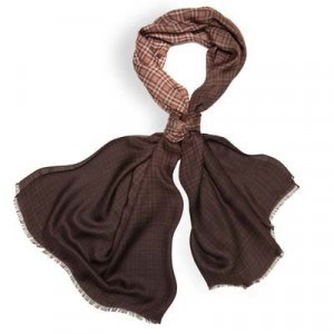 Altea Scarf Degradé Check Brown