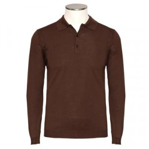 Altea Polo Cotton-Silk Brown