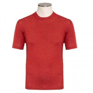 Altea T-shirt Linen Coral Red