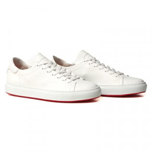 Andrea Ventura Deerskin Sneaker Unlined White