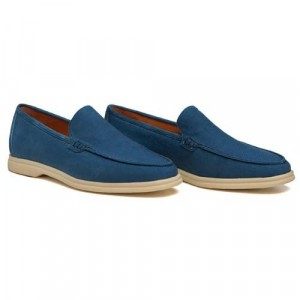 Andrea Ventura Loafer Washed Canvas Blue