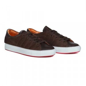 Andrea Ventura Sneaker Brown Leather-Suede