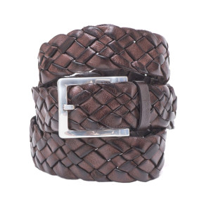 Andrea d'Amico Braided Belt Brown