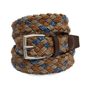 Andrea d'Amico Woven Belt Brown