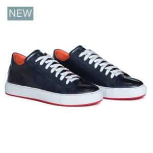 "Andrea Ventura Sneaker ""Anticato"" Blue Calf"