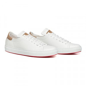 Andrea Ventura Deerskin Sneaker White
