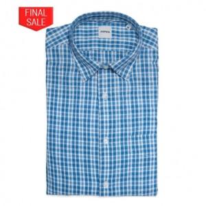 Aspesi Shirt Check Light Blue