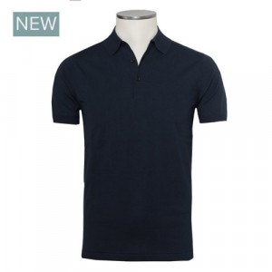 Aspesi Polo Short Sleeve Blue