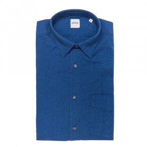 Aspesi Shirt Navy Check