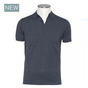 Aspesi Polo Short Sleeve Grey