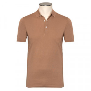 Aspesi Polo Short Sleeve Caramel