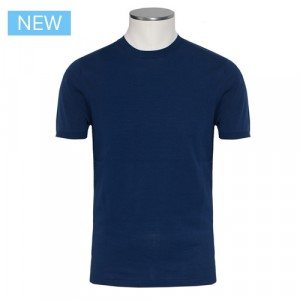 Aspesi Crewneck Short Sleeve Blue
