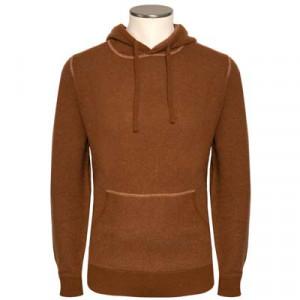 Aspesi Hoodie Wool Caramel Brown