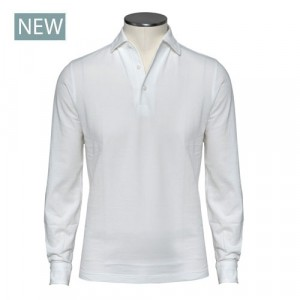 Barba Napoli Long Sleeve Polo White