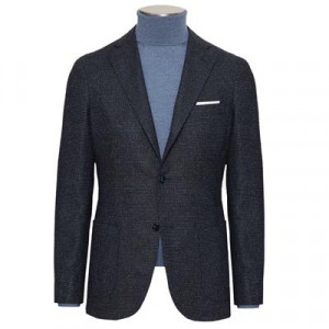 Barba Napoli Jacket Wool Silk Blue