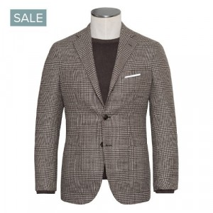 Barba Napoli Jacket Brown Check