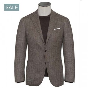 Barba Napoli Jacket Brown Herringbone