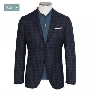 Barba Napoli Jacket Navy Check