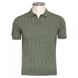 Barba Napoli Polo V-neck Green