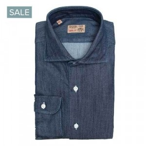 "Barba Napoli Shirt ""Raw"" Blue Denim"