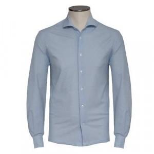 Barba Napoli Shirt Polo Blue Honeycomb