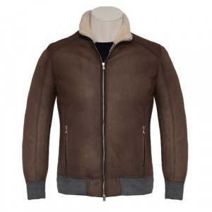 Barba Napoli Bomber Shearling Brown
