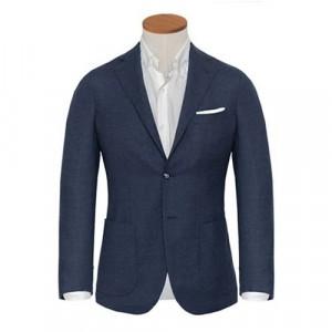 Barba Napoli Jacket Blue Melange