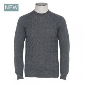 Barba Napoli Cable Crewneck Grey