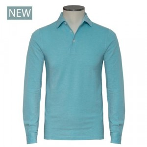 Barba Napoli Long Sleeve Polo Aqua