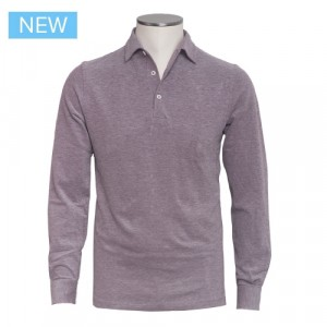 Barba Cotton Long Sleeve Polo Coral