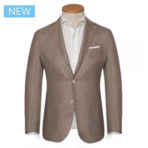 Barba Napoli Cashmere Silk Jacket Taupe