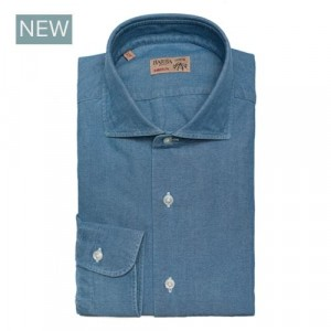 Barba Napoli Shirt Blue Oxford Denim