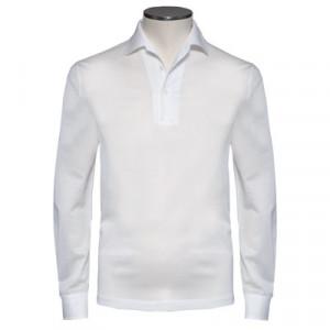 Barba Napoli Polo Longsleeve White