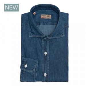 Barba Napoli Shirt Dark Blue Denim