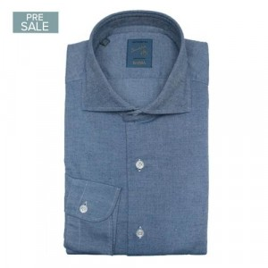 Barba Napoli Shirt Flannel Blue