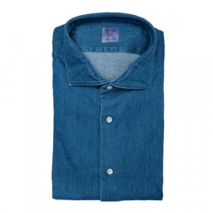 Mazzarelli Shirt Washed Denim Blue