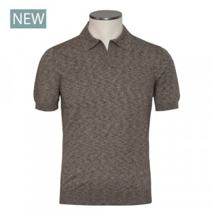 Barba Napoli Polo V-neck Brown
