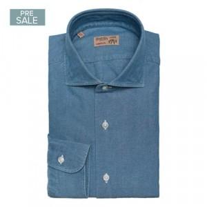 Barba Napoli Shirt Blue Oxford Denim