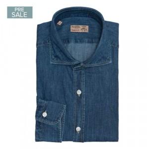 Barba Napoli Shirt Dark Blue Denim