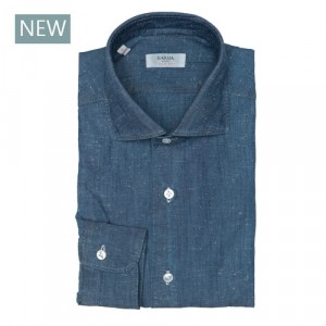 Barba Napoli Shirt Denim Structure Blue