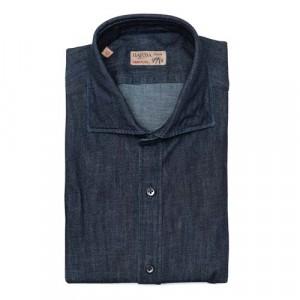 Barba Napoli Shirt Dark Denim Blue