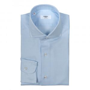 Barba Napoli Shirt Waffle Blue