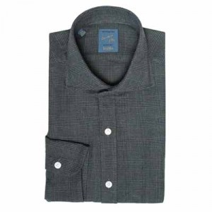 Barba Napoli Dandylife Shirt Flannel Glen-Plaid Green