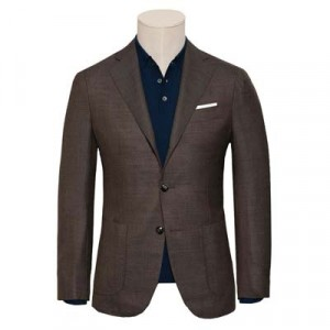Barba Napoli Jacket Hopsack Brown
