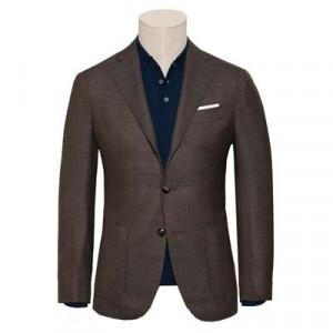 Barba Napoli Jacket Hopsack Brown