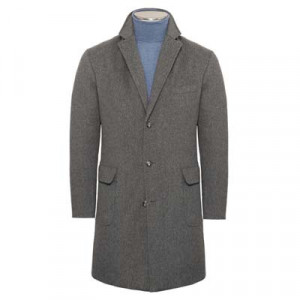 Barba Napoli Overcoat 'Doeskin' Down Grey