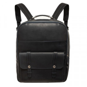 Barba Napoli Leather Backpack Blue