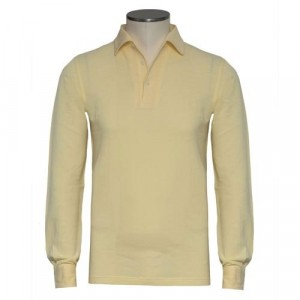 Barba Napoli Long Sleeve Polo Yellow