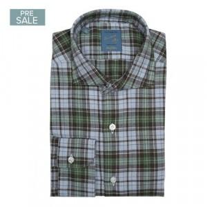 Barba Napoli Shirt Flannel Grey-Green Check