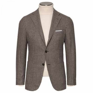 Barba Napoli Jacket Pied-de-Coq Brown
